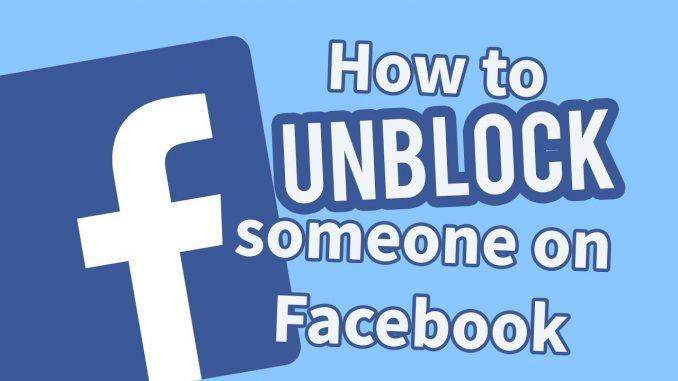 fb unblock